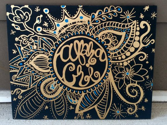 Sorority Doodle Canvas by dbshopp on Etsy                                                                                                                                                      More