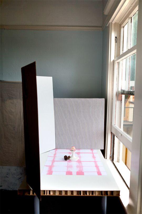 Setting Up a Photo Studio on the Cheap Super Photo Magic School | Apartment Therapy: Photo Studio, Photos Magic, Apartment Therapy, Photos Studios, Magic Schools, Photographers Small, Food Photography Studios, Super Photos, Cheap Super