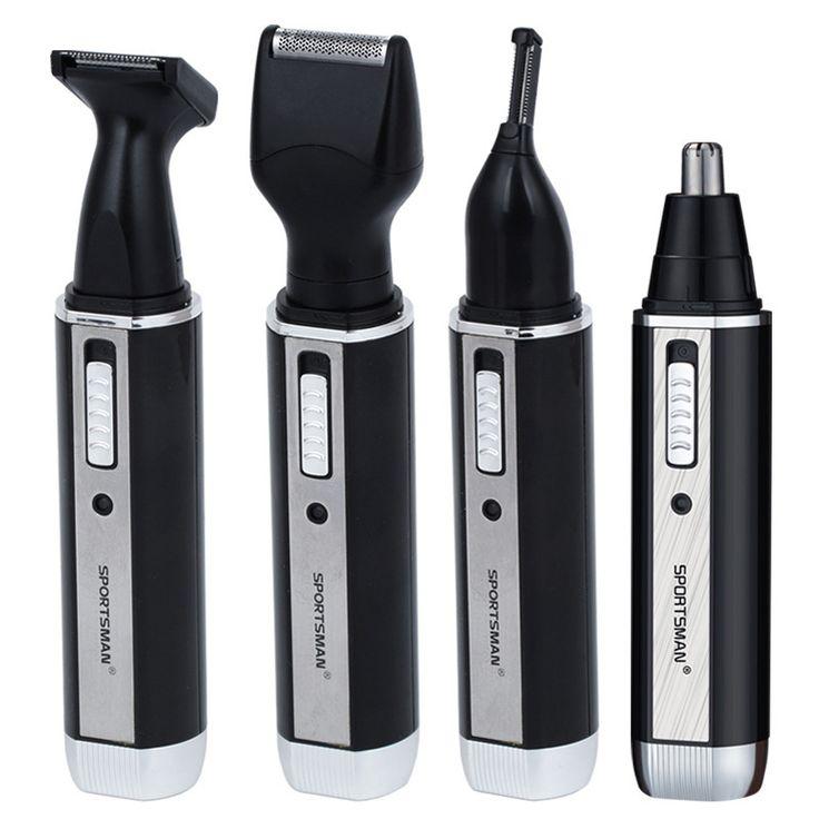 4 En 1 Recargable Oído, Nariz Barba Trimmer máquina de Afeitar Eléctrica cara Cejas Ear Nose Hair Trimmer Afeitadora Eliminación Automática Para hombres