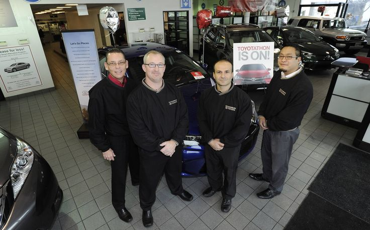Schaumburg Toyota's management team includes, from left, Bill Haeger, director of used cars; Chris Haley, general manager; Isaac Homa, used car manager; and Justin Tandoc, sales manager.