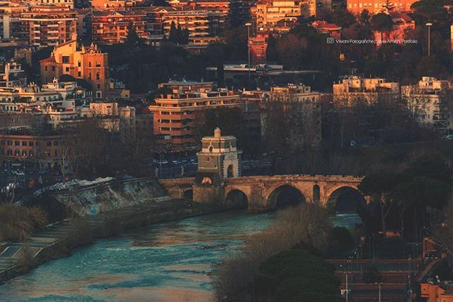 Ponte Milvio on sunset I shot this photo from Zodiaco a panoramic point view of Rome. It was an economically and strategically important bridge in the era of the Roman Empire and was the site of the famous Battle of the Milvian Bridge. Ponte Milvio  bridge was built by consul Gaius Claudius Nero in 206 BC.