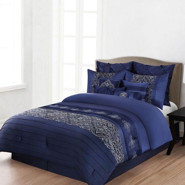 Home Classics Blake 12 Pc Comforter Set Blue 175 Cad