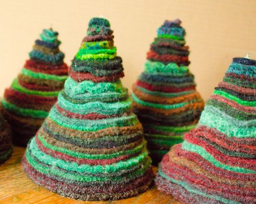 How-to: Overdye Upcycled Felted Wool to Create Custom Colors