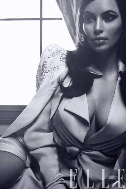 Kim Kardashian, styled by Nicola Formichetti, in Roberto Cavalli