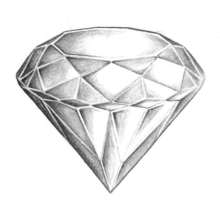 diamond pencil sketch - photo #12