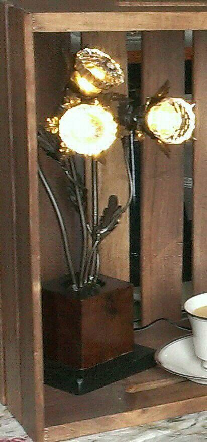 Lighted Glass Door Knobs Lamp Illuminated By
