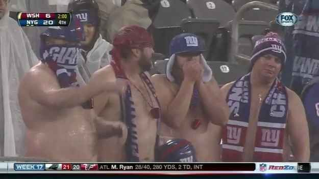 Frozen Shirtless Giants Bros Are Frozen | The Best GIFs Of NFL Week 17: Let Me Be Your Hero
