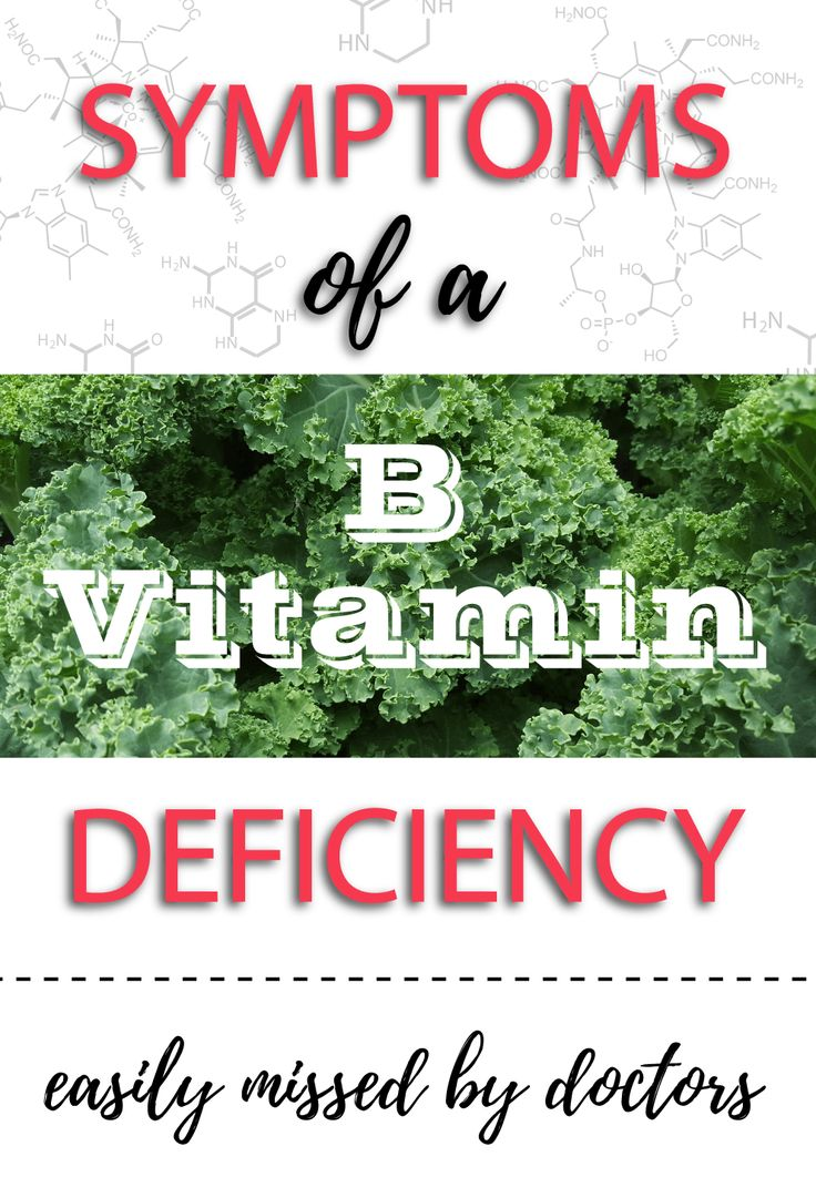 Symptoms of a B vitamin deficiency                              …