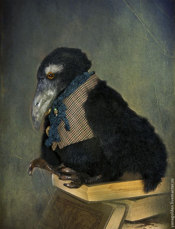 Купить Черный ворон. Шерлок. - чёрный, ворон, ворона, авторская ручная работа, авторская игрушка
