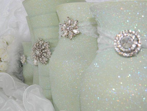 Weddings, Wedding Centerpiece, Wedding Decorations, Sage Wedding, Moss Green, Mint Green, Green