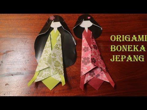 tutorial origami boneka jepang