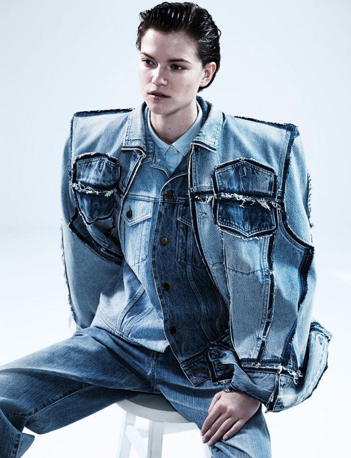 Denim on Denim   Dazed April Issue 2013   by Josh Olins   Robbie Spencer Fashion Editor/Stylist