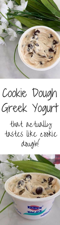 Cookie Dough Greek Yogurt- That actually tastes like cookie dough!