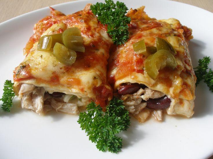 Kuřecí jalapeňo enchiladas (zapečené)