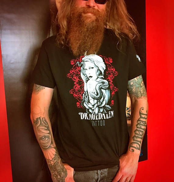 Birger is wearing our men's short sleeve Dragedalen Tattoo tee. Limited Edition of 20 each made. Buy yours at our Etsy shop now. Enjoy!