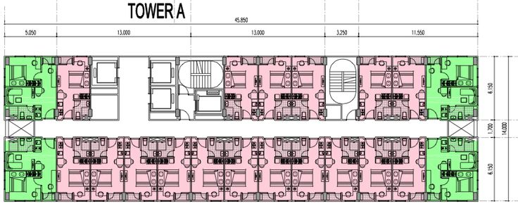 Floor Plan Tower A Apartemen B Residence