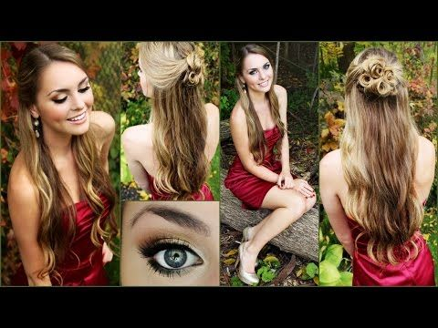 Get Ready With Me Homecoming 2014! Makeup, Hair & Dress. For red dress