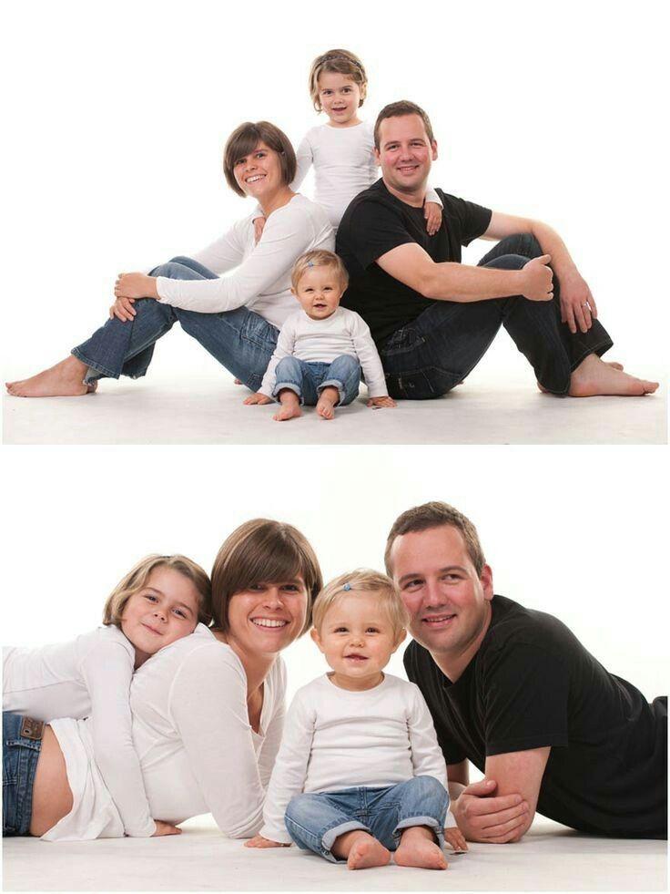 эффектные позы для фото большая семья они просто дружили