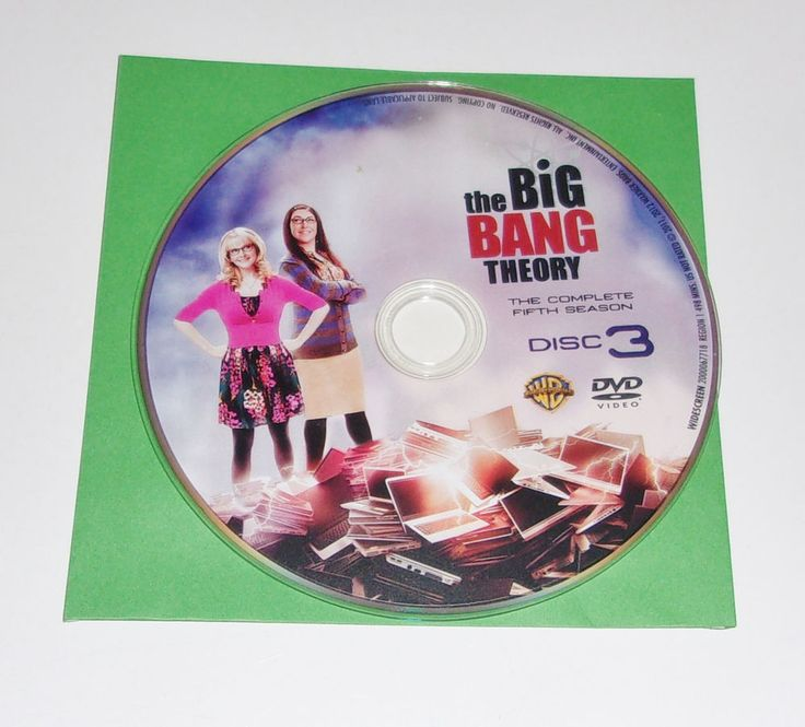 The Big Bang Theory DVD Season 5 Disc 3 Replacement Disc Only