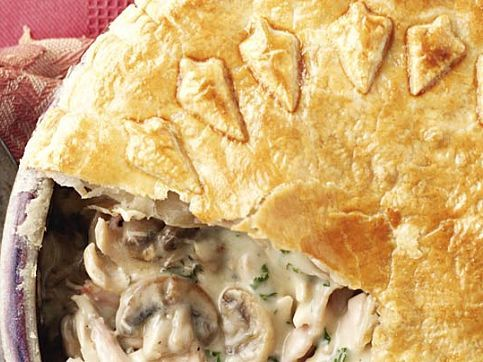 Healthy chicken and mushroom pie recipes