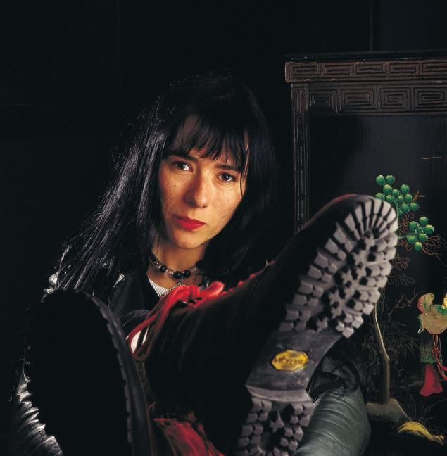 Argentine musician María Gabriela Epumer. Buenos Aires. 1991.
