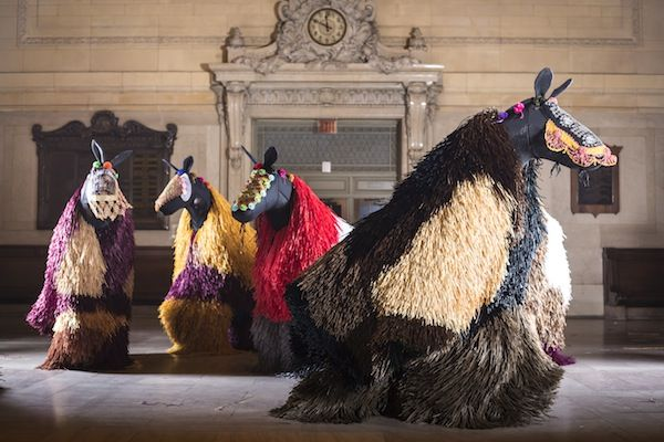 30 Nick Cave Soundsuit Horses Will Dance Around Grand Central Terminal in March