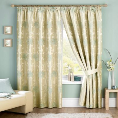 Sundour Carnaby Duckegg Pencil Pleat Curtains- at Debenhams.com