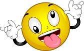 faccina sorridente : Illustrazione di un goofing Smiley Intorno