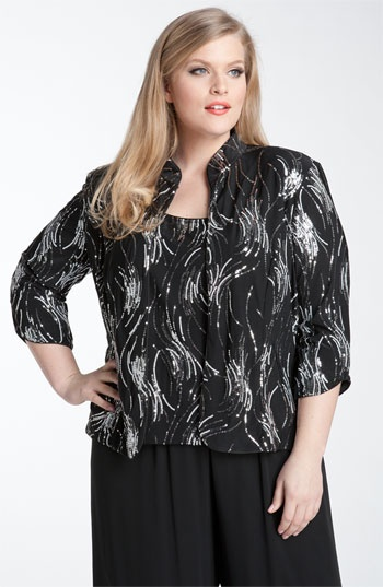 Alex Evenings Sequined Twinset (Plus) available at Nordstrom