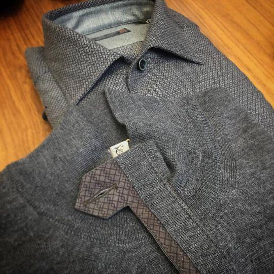 Corneliani shirt: https://goo.gl/aRbPxZ  Canali merino wool sweater: https://goo.gl/nQ6zp0  #corneliani #canali