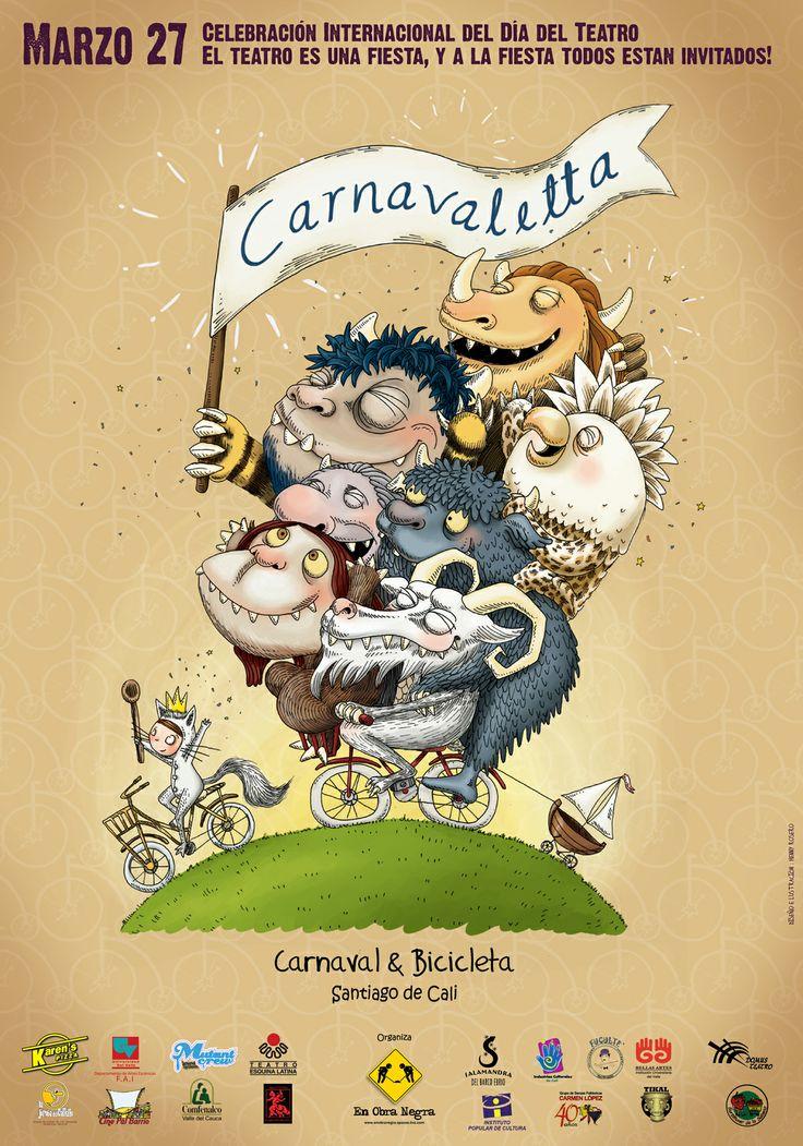 Cartel oficial - Carnavaletta, Fundación  En Obra Negra / 2014