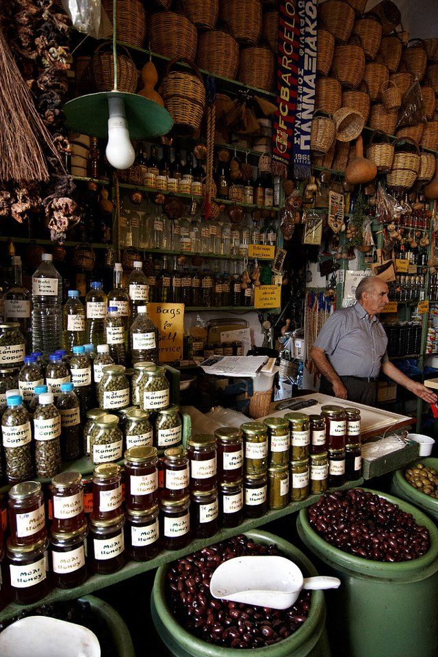 shop local and traditional products in Naxos.      Greece