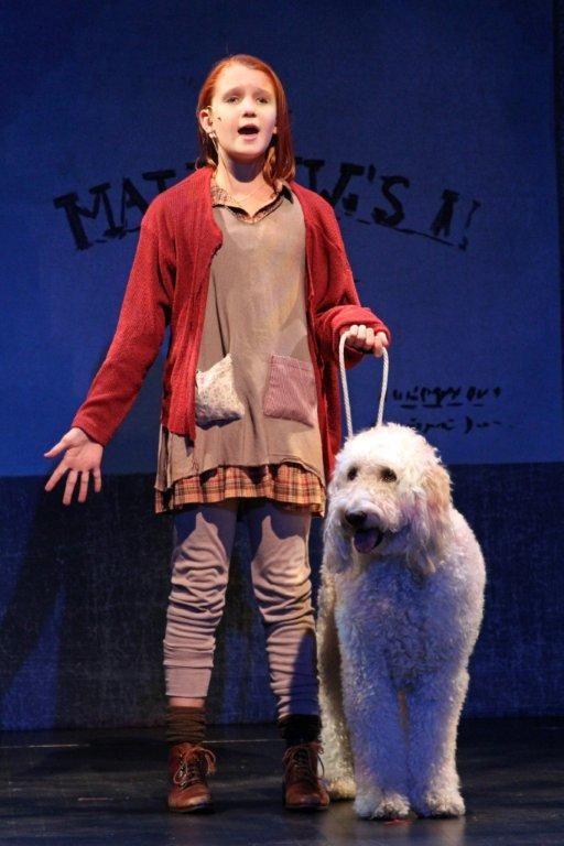 orphan Annie--leggings/long underwear with shorter dress