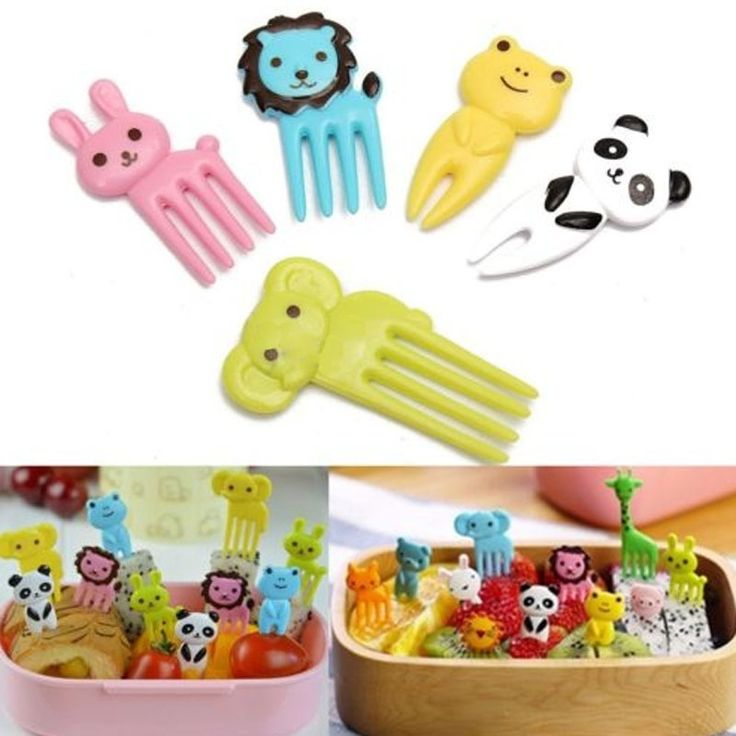 Cheap fork fruit, Buy Quality cartoon fork directly from China fruit fork Suppliers: 1PACK Mini Animal Farm Cartoon Fork Fruit For kids Pick Sign Bento Lunches Party Decor Vegetable Tableware Dinnerware