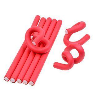 inkint ® 10 pcs Rouleaux Bigoudis – Bigoudis Flexibles en mousses 24×1.0cm Pour les cheveux secs / humides (Rouge)