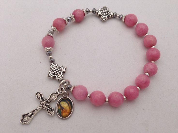 A personal favorite from my Etsy shop https://www.etsy.com/listing/170600526/pink-morganite-rosary-bracelet-lady
