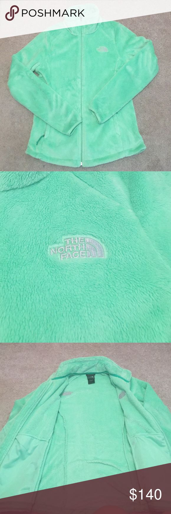 NWOT size small mint green north face fleece New without tags mint green size small north face full zip up fleece. Very warm and a super cute color :) The North Face Jackets & Coats