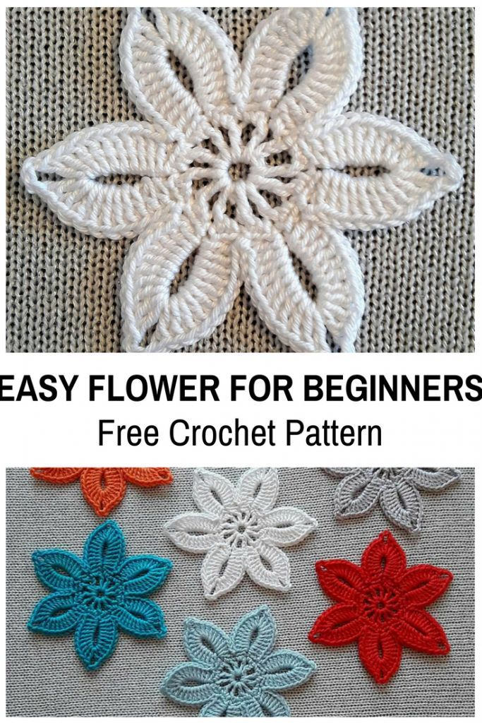 This Easy Crochet Flower For Beginners Is So Cute! [Free Pattern ...
