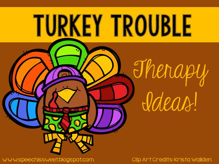 Turkey Trouble ideas and a freebie! Great for Thanksgiving themed speech therapy or literacy lessons!