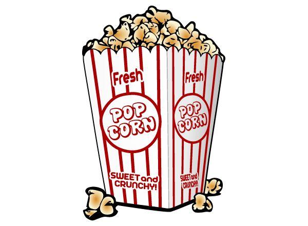 Free Popcorn Vector Clip Art Image | Food & Drink ... - photo#41