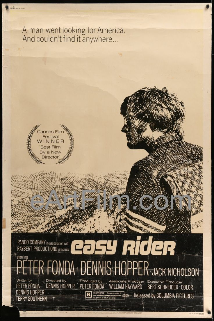 Easy Rider-director Dennis Hopper's Cannes-Award-winning biker-drug-classic-Peter Fonda-Dennis Hopper-Jack Nicholson-Luke Askew-Karen Black-Carrie Snodgress This is a RARE 40x60 original US one sheet.