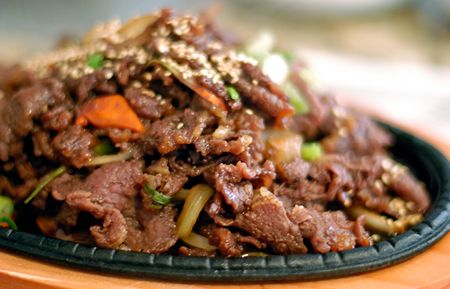 We got so spoiled being served this for 3 1/2 years every Sunday while on staff at a Korean church!! It's amazing! korean food, bulgogi
