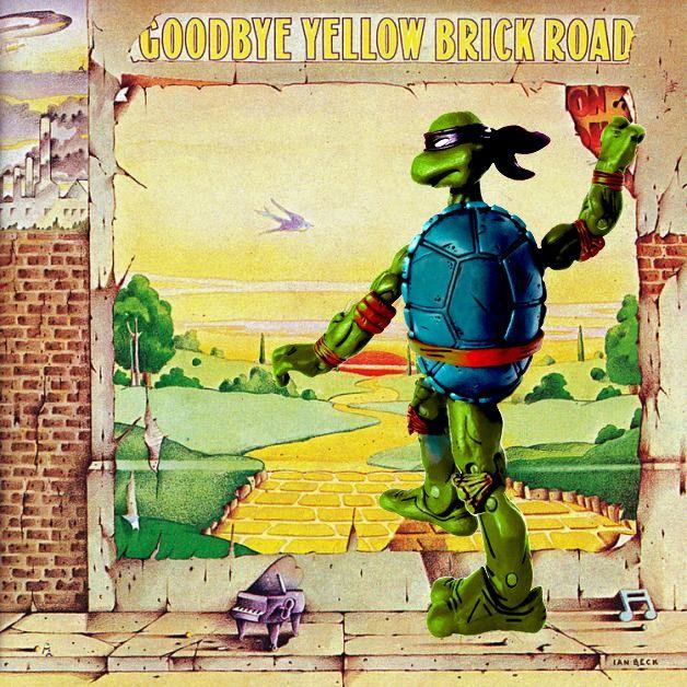 #GoodbyeYellowBrickRoad #EltonJohn #ninjaturtleparody #albumparody  #albumart #albumcoverart #albumcoverlove #albumcovers #musicart #musicandart #1973  #necaturtles #necatmnt  #turtlepower #tmnt #ninjaturtles #YellowBrickRoad