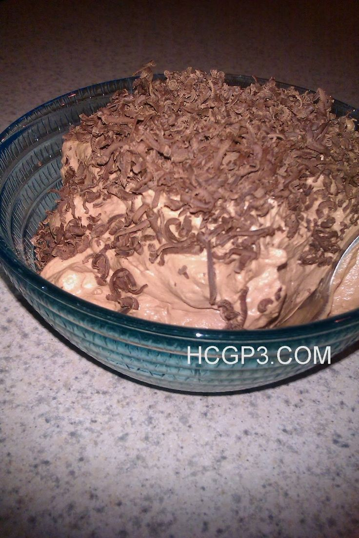 HCG Recipes: P3 Chocolate Mousse
