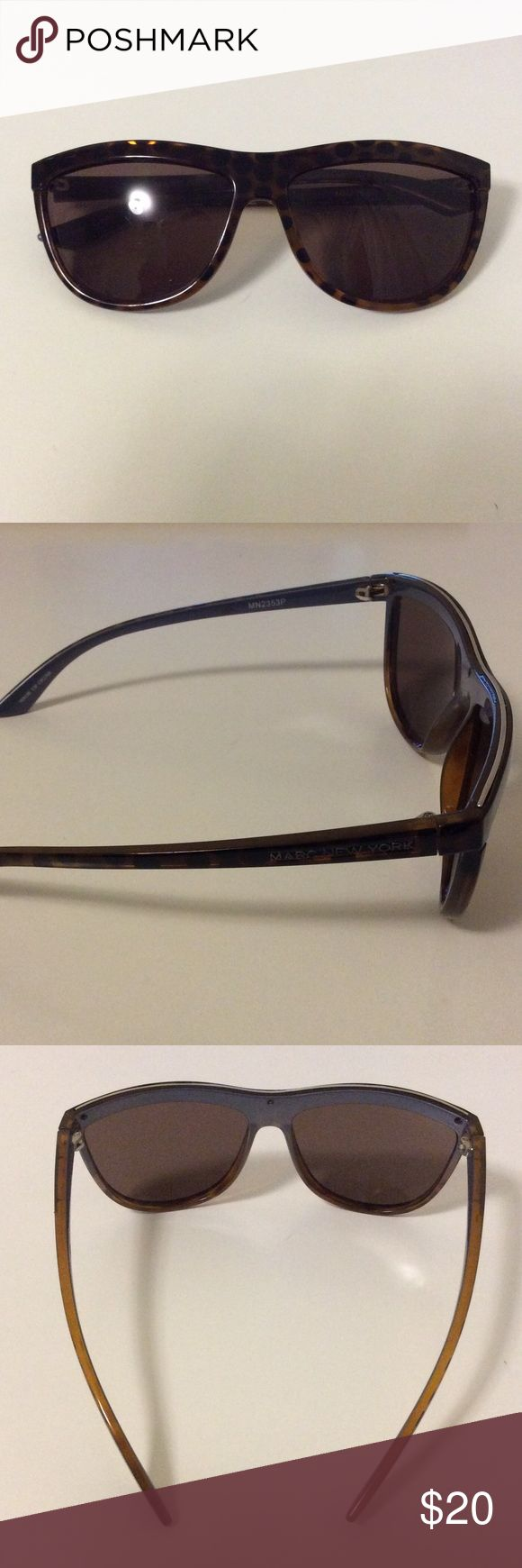 Marc New York tortoise sunglasses Marc New York by Andrew Marc sunglasses. MN2353P. Silver stripe at the top (photo 2). Used but in great condition. No scratches or flaws. No case. Marc New York Accessories Sunglasses
