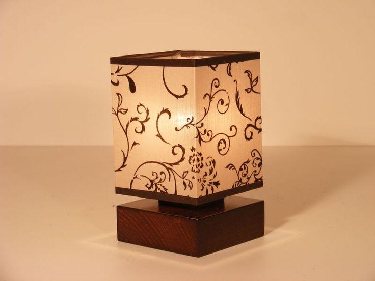 http://rustiklight.com/lights/table-lamps/lombardia-table-lamp - LOMBARDIA table lamp one light brown wenge square wood base and floral fabric lamp shade#wood #lighting #home #homedecor #homedeco #homedesign #interiordesign #lights