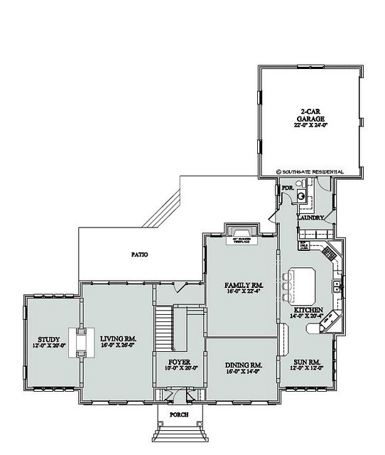 The mcallister 1st floor i really like the flow and size for Home alone house floor plan