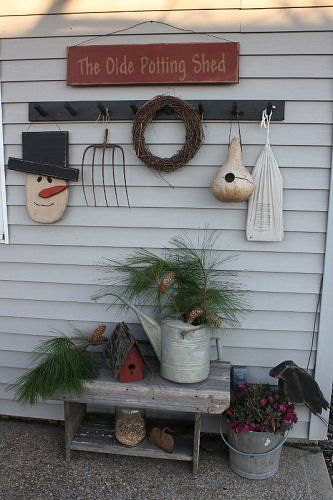 Absolutely love this idea.  Great for porch or back door entrance.