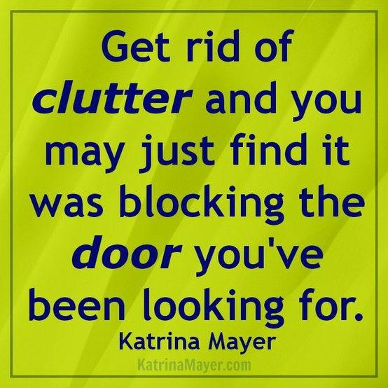 Livre-se da bagunça, pois ela pode estar bloqueando aquela porta que você tanto procura...