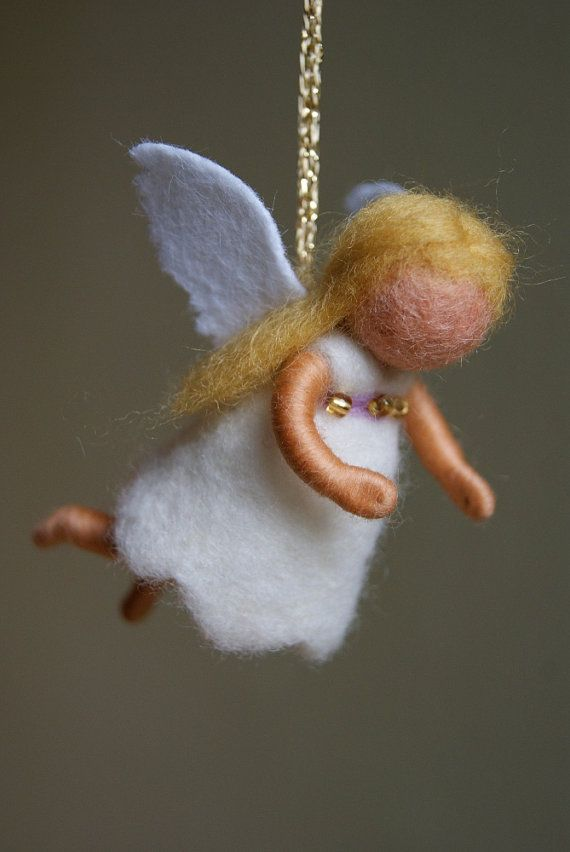 Little guardian angel  felted waldorf inspired by naturechild